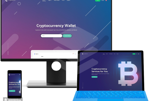 Crypterium – Cryptocurrency – ICO Landing Page WordPress Theme