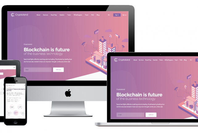 Cryptoland – WordPress ICO Landing Pages Cryptocurrency Theme Pack